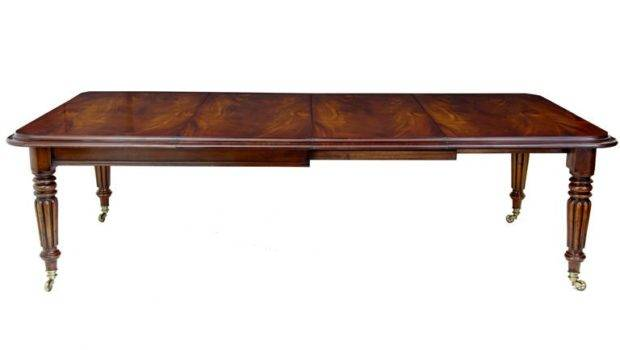 Victorian Style Mahogany Extending Dining Table Seats