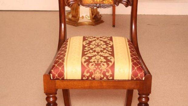 Victorian Style Marquetry Dining Table Chairs
