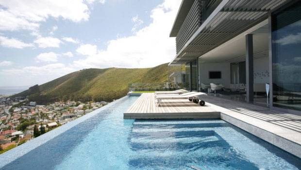 Views Infinity Pool Terrace Contemporary Level Home Cape Town