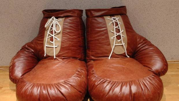 Vintage Look Leather Boxing Glove Chair Bean Bag Ornald Etsy
