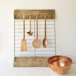 Vintage Mid Century Copper Kitchen Utensils Set Four