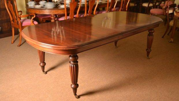 Vintage Victorian Style Solid Mahogany Dining Table