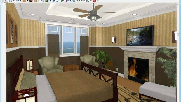 Virtual Simple Modern Bedroom Furniture Placement Detail