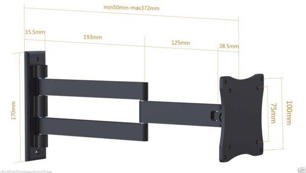 Wall Mount Bracket Inch Flat Screen Arm Swivel