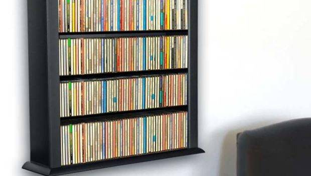 Wall Mount Dvd Storage Rack Color