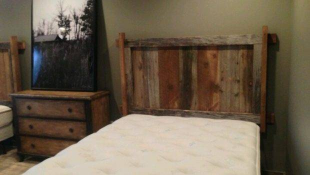 Wall Mount Reclaimed Barnwood Headboard Ozark Custom Rustics Wood