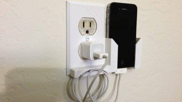 Wall Outlet Plate Smartphone Dock Rubb Rtoe Thingiverse