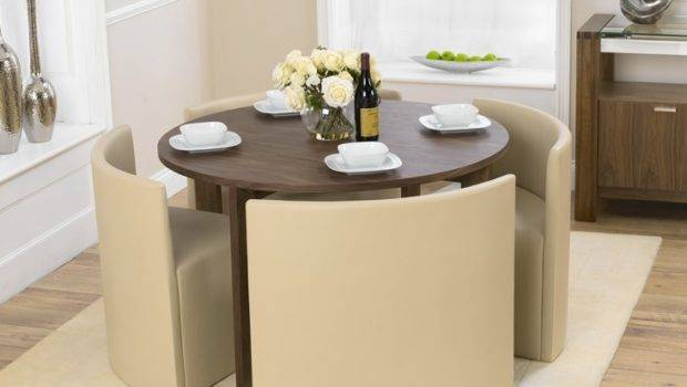 Walnut Stowaway Dining Table Chairs Oak Furniture Superstore