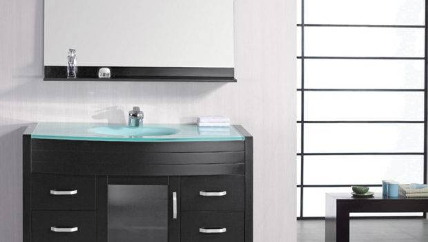 Walton Single Sink Glass Vanity Set Zuri Furniture