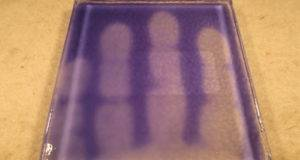 Watercolors Blue Heat Sensitive Color Changing Glass Tile Ebay