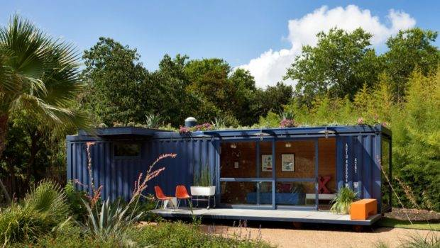 Weekend Cabin Shipping Container Guest House San Antonio Texas