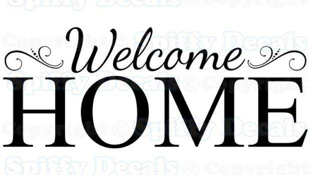 Welcome Home Removable Vinyl Wall Decals Sticker
