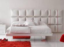 White Bed Unusual Creative Headboard Olivieri