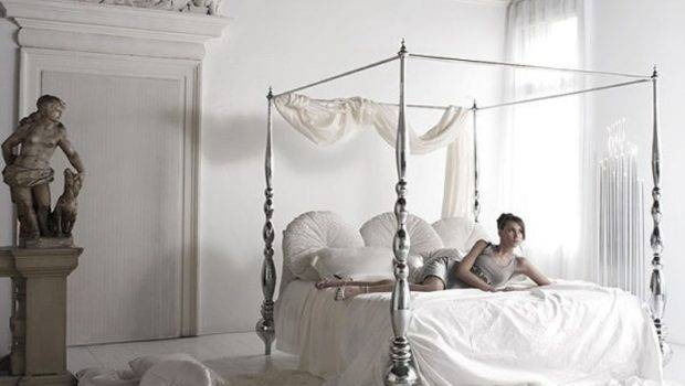 White Bedroom Elegant Canopy Bed Dream Home Pinterest