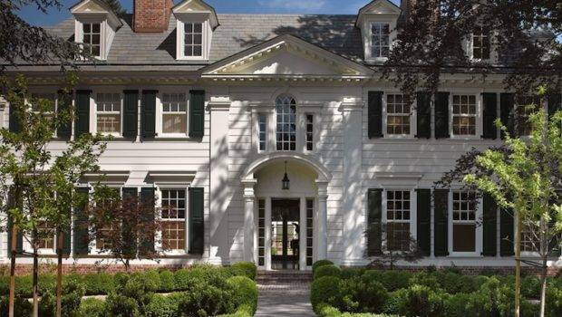 White Brick Home Traditional Exterior Jeffrey Alan Marks