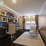 White Brown Home Office Design Olpos