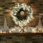 White Christmas Mantel Decorating Ideas
