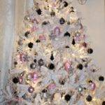 White Christmas Tree Silver Decorations Happy Holidays