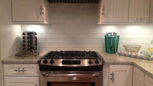 White Glass Subway Tile Kitchen Backsplash Outlet