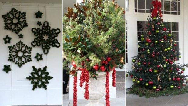 White House Christmas Decorations Inside During