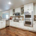 White Kitchen Cabinets Appliances Off