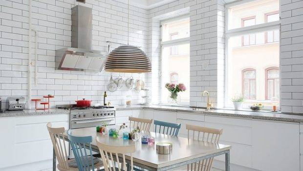 White Kitchen Metro Tiles Pinterest