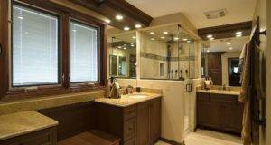 White Marble Countertop Master Bathroom Designs Sweet Decoration