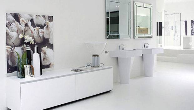 White Modern Bathroom Interior Design Architecture Furniture