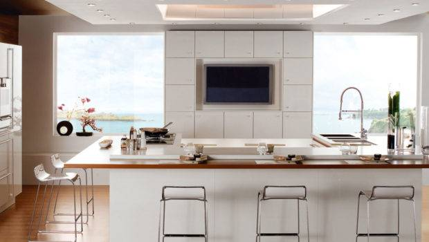 White Modern Kitchen Furniture Cabinets Neat