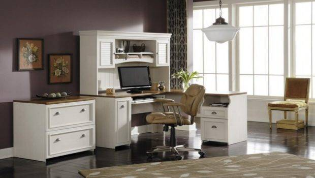 White Office Furniture Collections Great Home