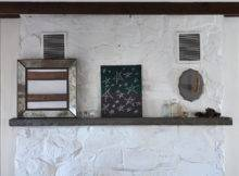 White Paint Gives Retro Fireplace Facade Fresh Stylist