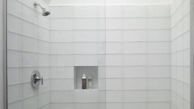 White Rectangular Bathroom Tiles Ideas