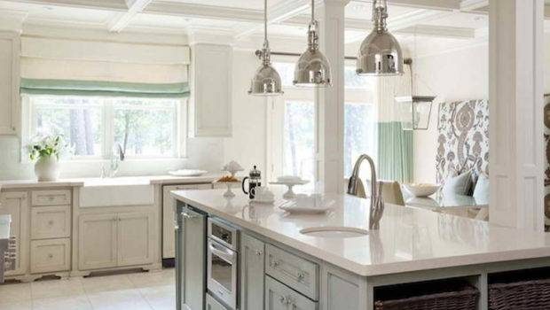 White Rustic Kitchen Small Kitchens Designs