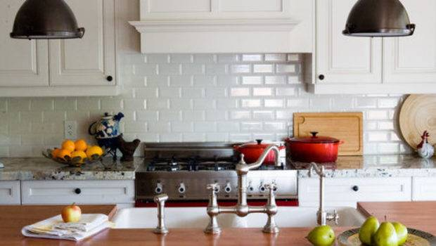 White Subway Tile Backsplash Houzz