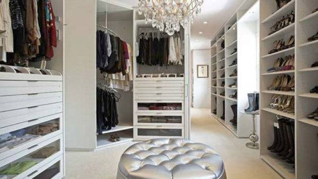 White Walk Closet Design Ideas