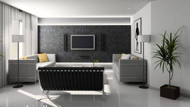 White Wall Black Design Latest Sofa