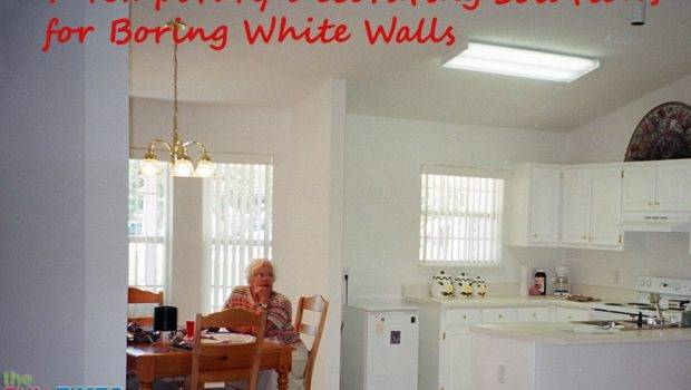 White Wall Decor Temporary Decorating Solutions Boring