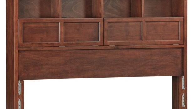Whittier Wood Mckenzie Bookcase Headboard Glazed Antique Cherry