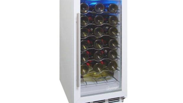 Wht Bottle Front Venting Wine Cooler White Cabinet Body