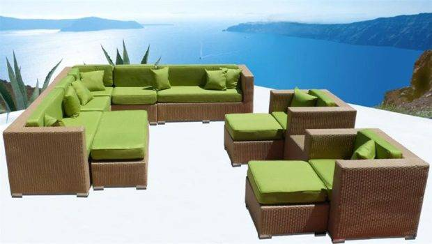 Wicker Sectional Sofa Patio Furniture Set Choose Colors Bonus