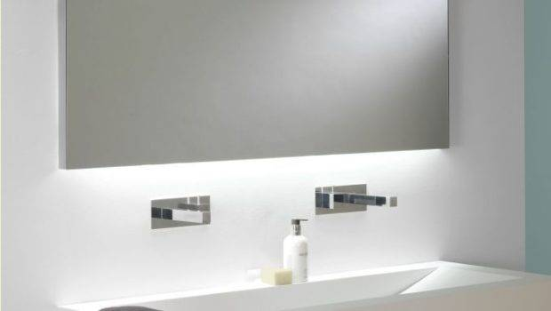 Wide Illuminated Bathroom Mirror Backlit Effect