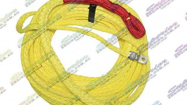 Winch Rope Polyurethane Coated Vis Yellow Superior