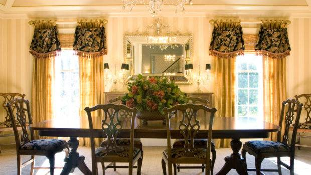 Window Treatments Formal Dining Room Modern Interior Design