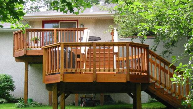 Wood Deck Before After Outdoor Living Spaces Twin Cities