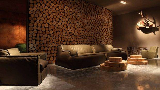 Wood Living Room Design Wooden Wall