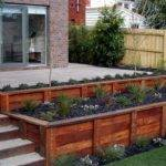 Wood Retaining Small Walls Ideas Home Decoration Improvement