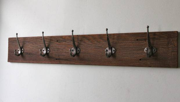 Wooden Coat Racks Wall Mounted Hangers Pegs