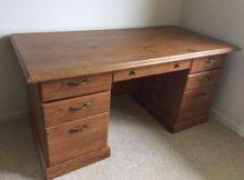 Wooden Desk Solid Wood Postadsukcom Beautiful Used