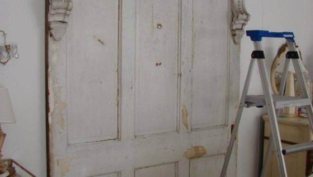 Wooden Doors Old Headboard