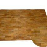 Wooden Mat Bamboo Wood Bathroom Rug Teak Shower Sauna